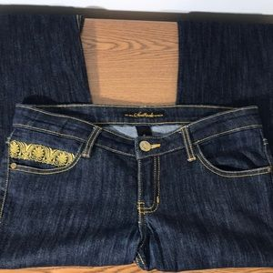 South Pole Junior's Dark Wash Bootcut Jeans Size 5